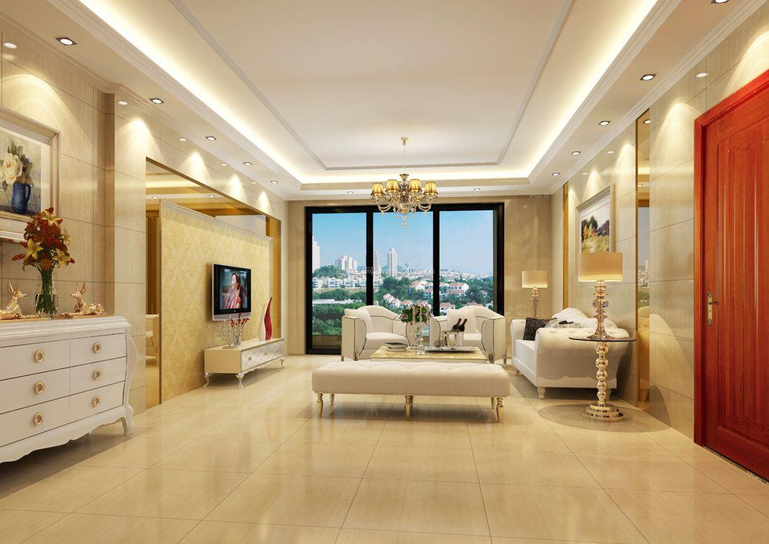 客厅吊顶装修效果图 石膏