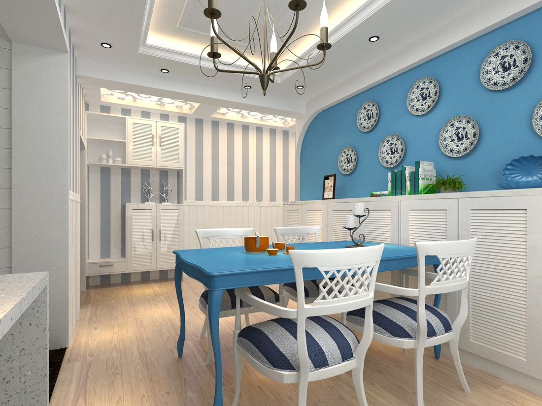 房屋室内设计地中海大全_装修123效果图