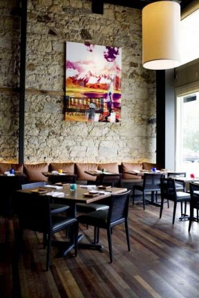 小饭店门面装修图 石材墙面装修效果图片图片