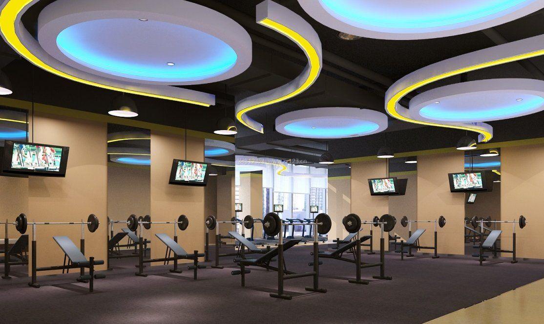 健身房吊顶室内装饰设计效果图