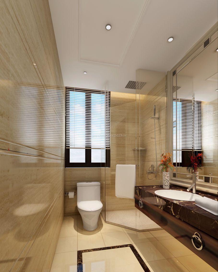 现代简约欧式风格浴室玻璃隔断效果图_装修123效果图