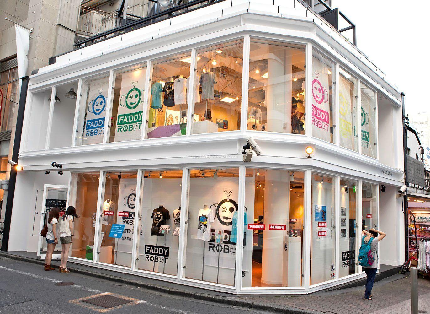 简约现代风格韩国服装店门头装修图片