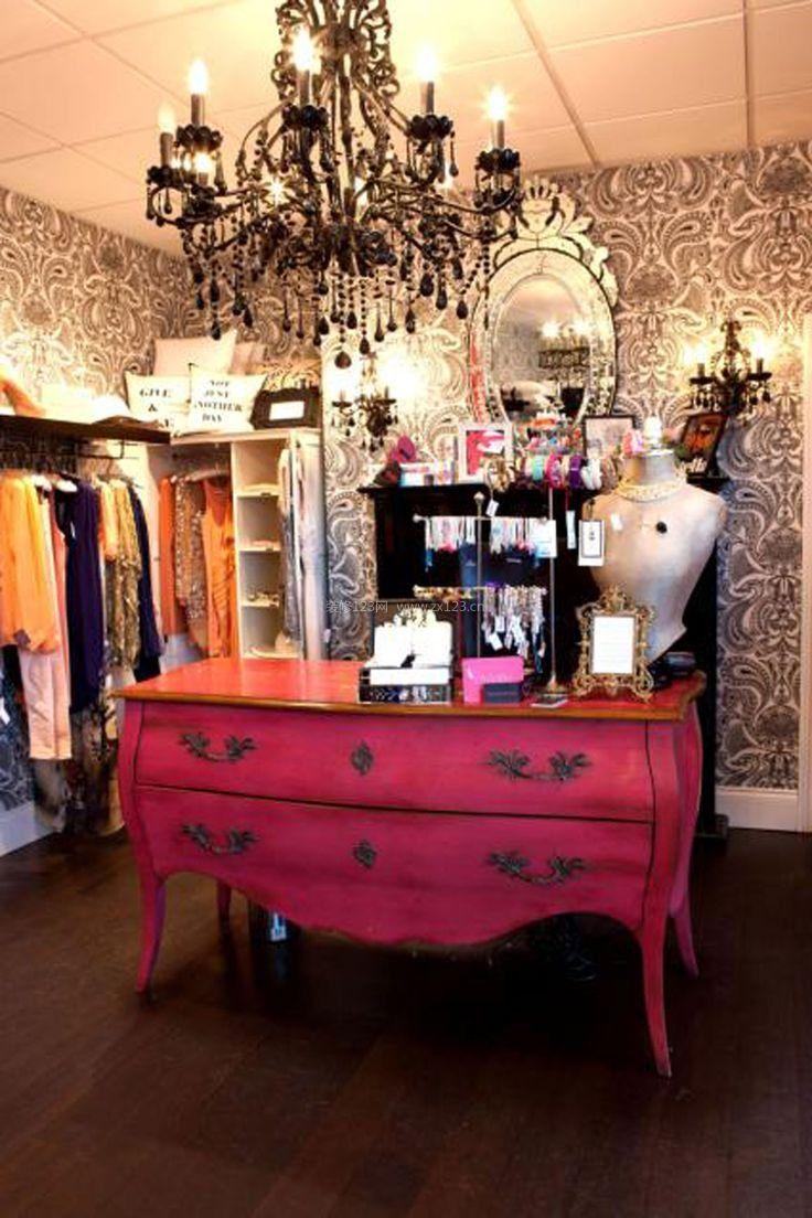 混搭设计风格韩国服装店装修图片欣赏
