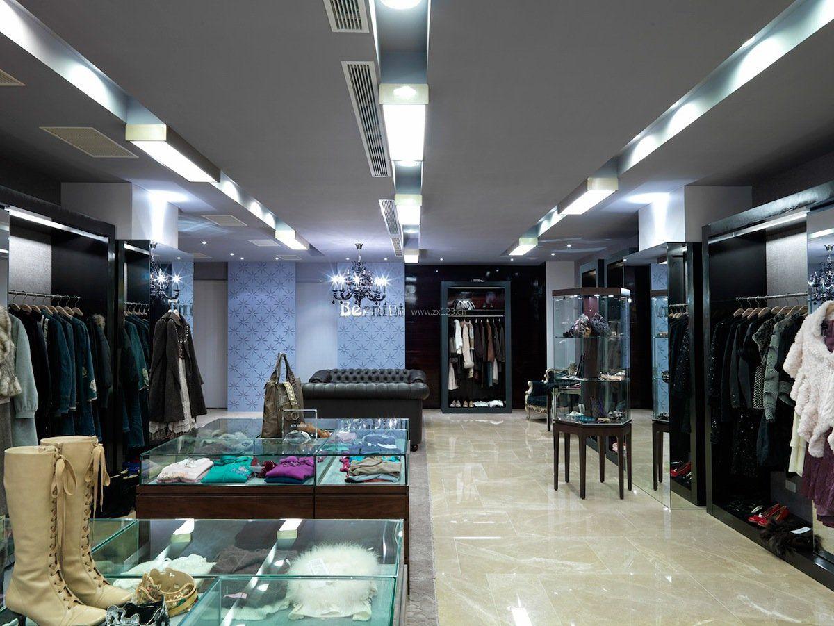 韩国服装店吊顶设计装修效果图片