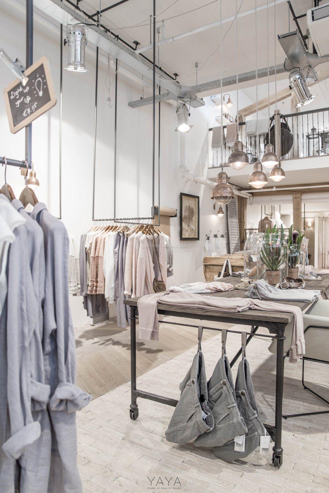 韩国服装店装修设计图_小型衣服店装修图