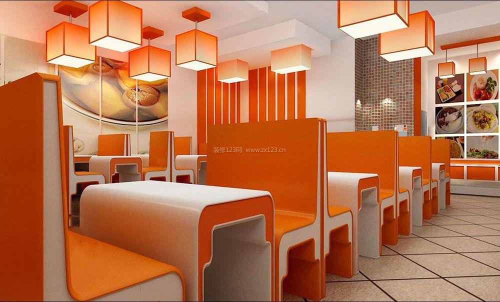快餐店室内设计装修图
