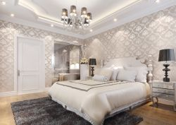 2017欧式家居卧室墙面壁纸装修设计效果图片案例