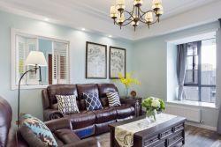 簡約美式室內設計客廳燈具效果圖片