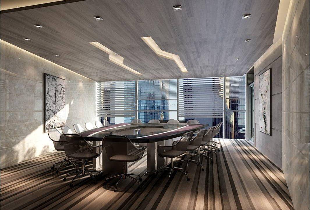 新古典风格办公室窗帘装修效果图