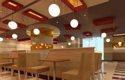 快餐店門面室內設計裝修效果圖片