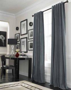 小型辦公室裝潢窗簾效果圖片