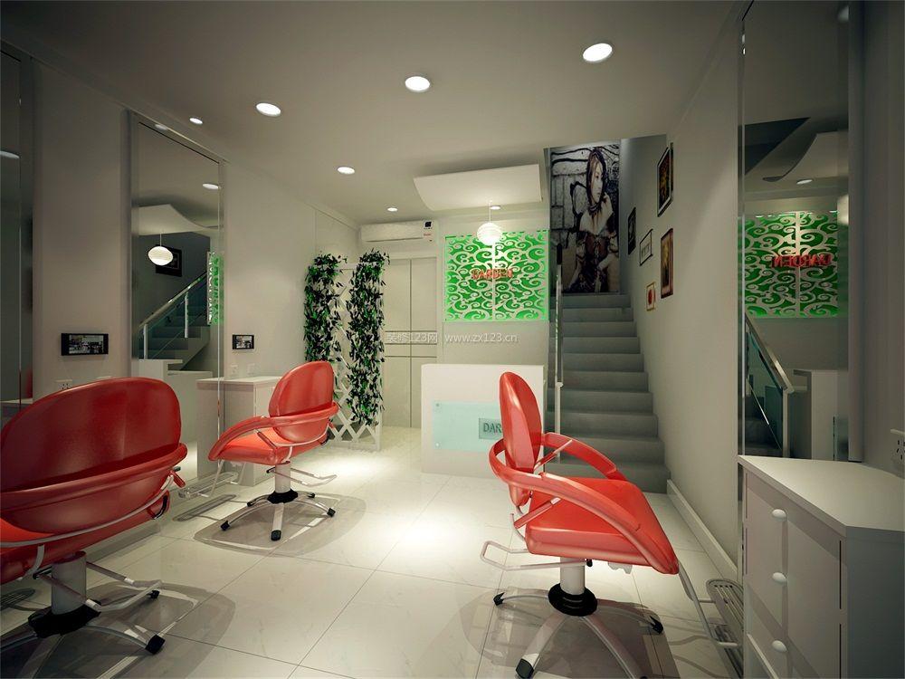 现代风格小理发店简单装修图片