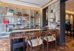 新中式風格別墅設計茶室裝修效果圖