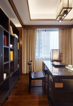 新中式别墅设计书房装修效果图欣赏图片