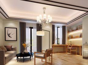 新中式别墅设计 休闲区装饰装修效果图片图片