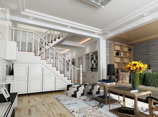 小复式房楼梯设计实用和好看相结合