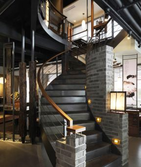 2017室内旋转钢结构楼梯图集