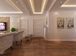 现代欧式风格 白色门装修效果图片
