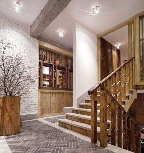 仿古门面装修效果图 室内楼梯设计
