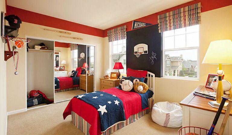 美式别墅卧室窗户设计装修效果图