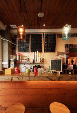 咖啡店柜台装修效果图