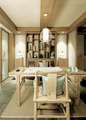 三室一厅中式 中式小书房装修效果图