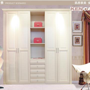 凯恩家美kencamy 定制定做衣帽间衣柜 欧式美式罗马柱 实木工艺图片