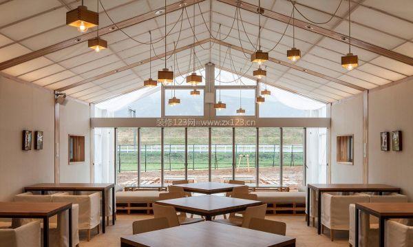 小餐馆吊顶装修设计效果图图片