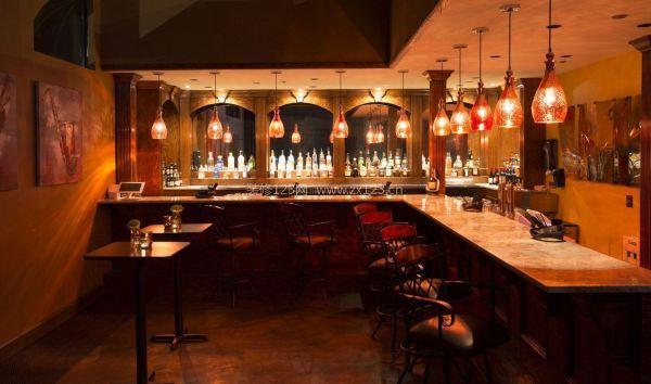 小型餐馆吧台装修设计效果图