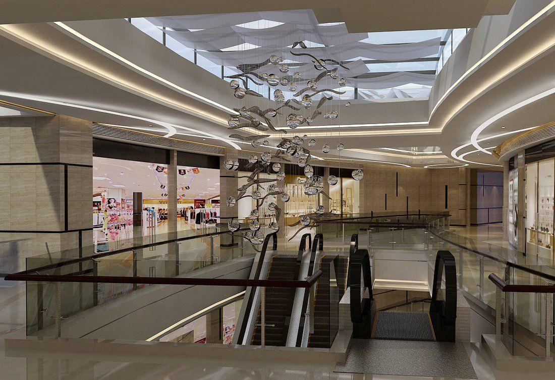 现在流行商场楼梯吊顶装修效果图片