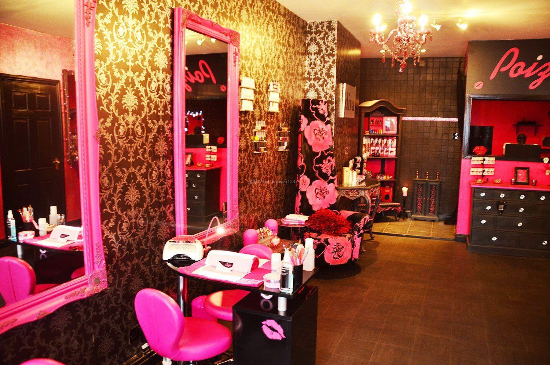 小型理发店美发店壁纸装修效果图片