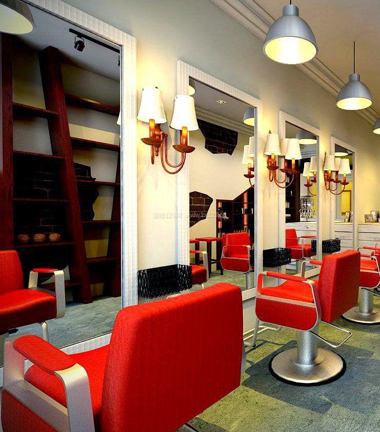 小型理发店室内装修
