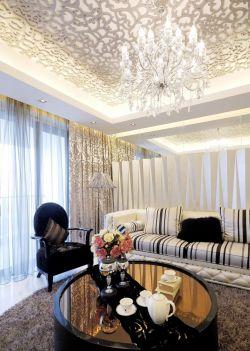2017欧式别墅沙发背景墙墙面设计装修效果图片