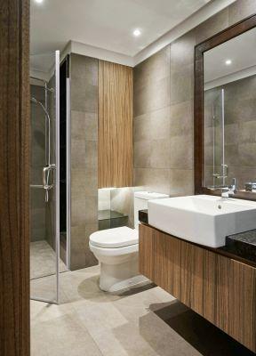 现代简约小户型设计 浴室柜装修效果图片
