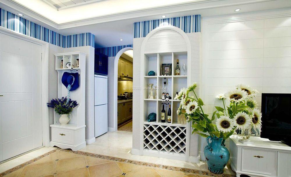 交换空间地中海风格靠墙酒柜装修效果图