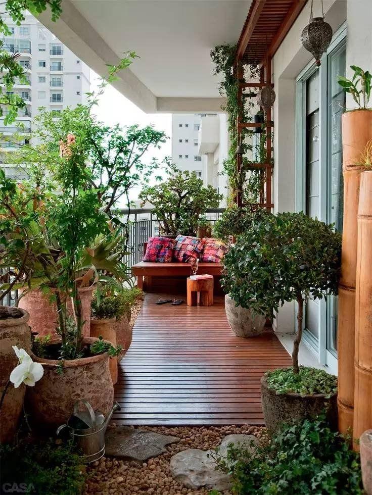 小阳台花园实景图片欣赏