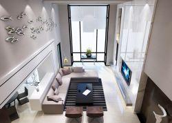 2017現代復式客廳布藝沙發裝修效果圖