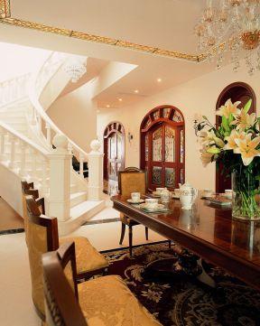 室內歐式風格 室內樓梯扶手裝修效果圖