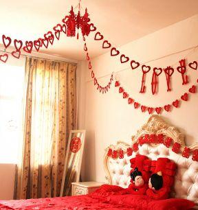 家装婚房卧室布置图片