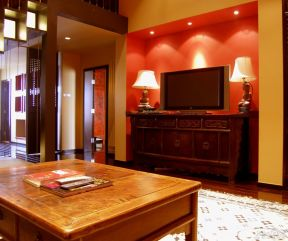 現代中式電視柜 家庭室內裝潢