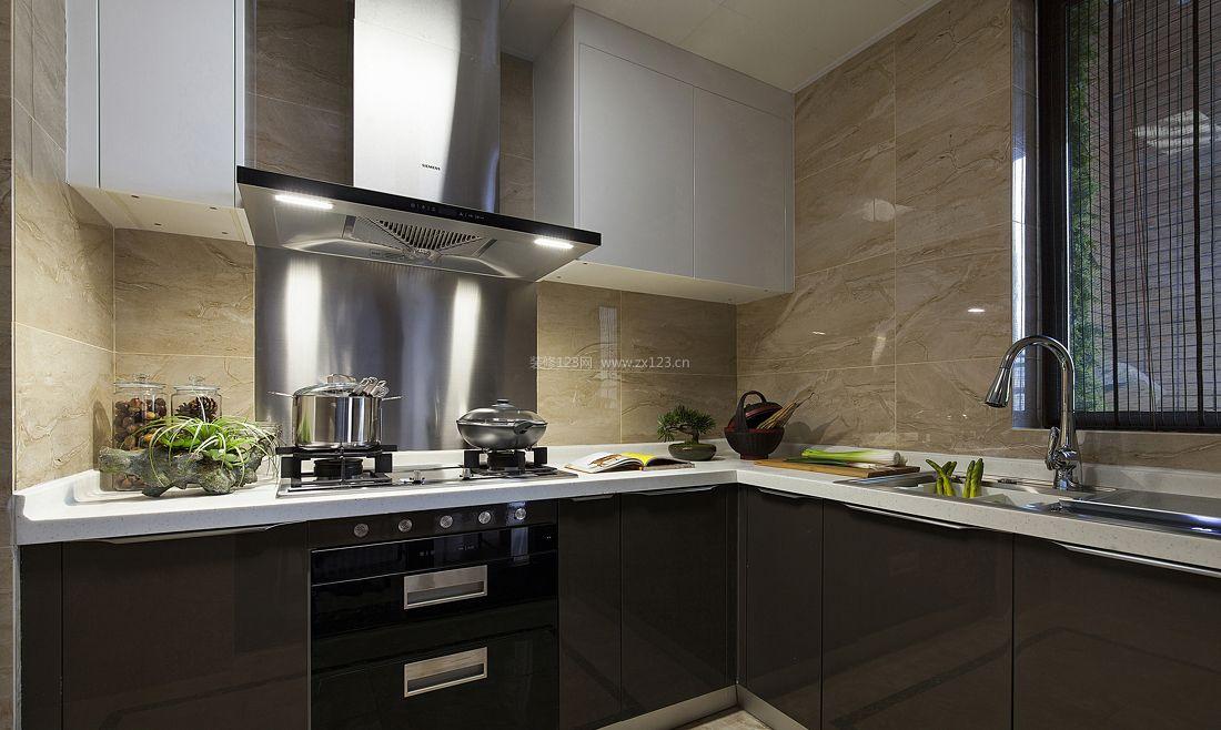 现代简约风格厨房橱柜装修效果图2017图片