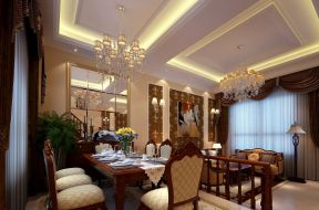 欧式餐厅吊灯 现代欧式混搭风格