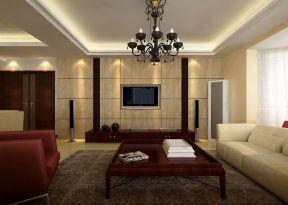 現代簡約客廳電視墻 現代簡單裝修