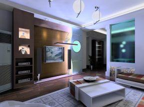 現代簡約客廳電視墻 現代簡約客廳布置