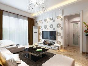 現代簡約客廳電視墻 電視墻墻紙裝修效果圖大全