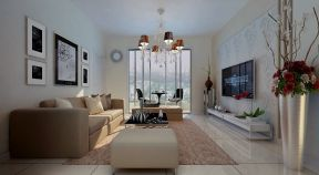 現代簡約客廳電視墻 時尚現代風格