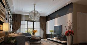 現代簡約客廳電視墻 現代時尚簡約風格