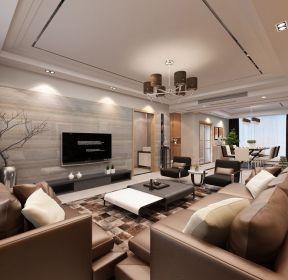 現代簡約大客廳布置電視墻-每日推薦