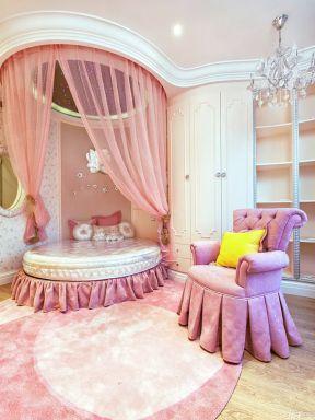 女孩卧室装修效果图 卧室圆床装修效果图图片
