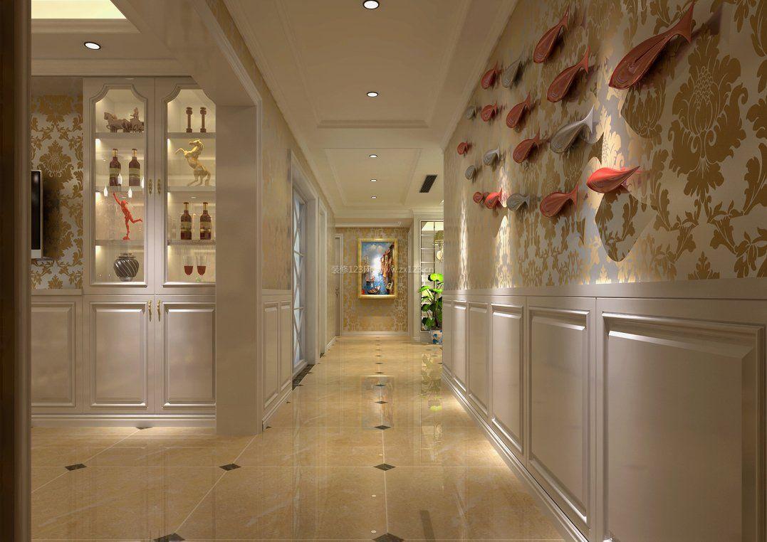 欧式风格走廊墙面设计装修效果图片